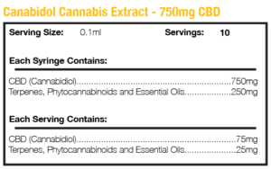 Cannabis Extract 750