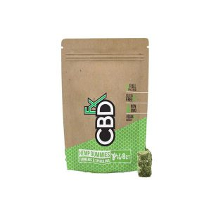 CBDfx Hemp Gummies 8ct Turmeric & Spriulina