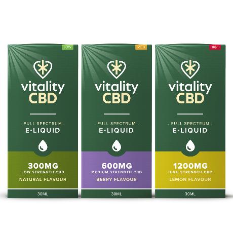Vitality CBD E-liquid Variety