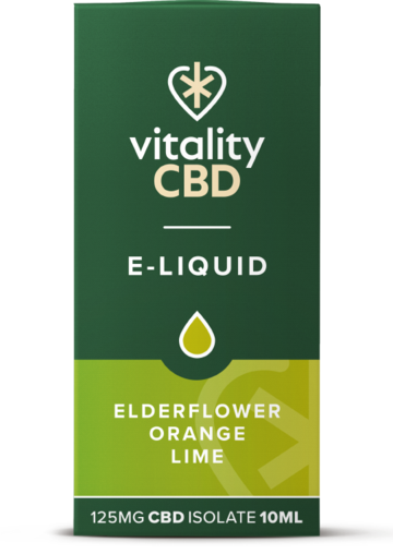 Vitality CBD e-liquid Elderflower Orange Lime 125mg