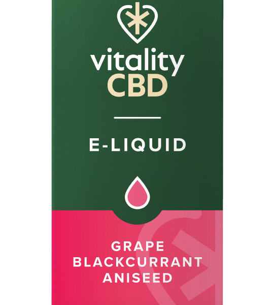 Vitality CBD e-liquid Grape Blackcurrant Aniseed 125mg