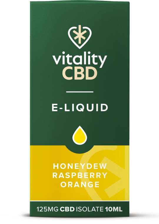 Vitality CBD e-liquid Honeydew Raspberry Orange 125mg