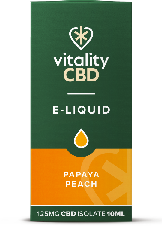 Vitality CBD e-liquid Papaya peach 125mg