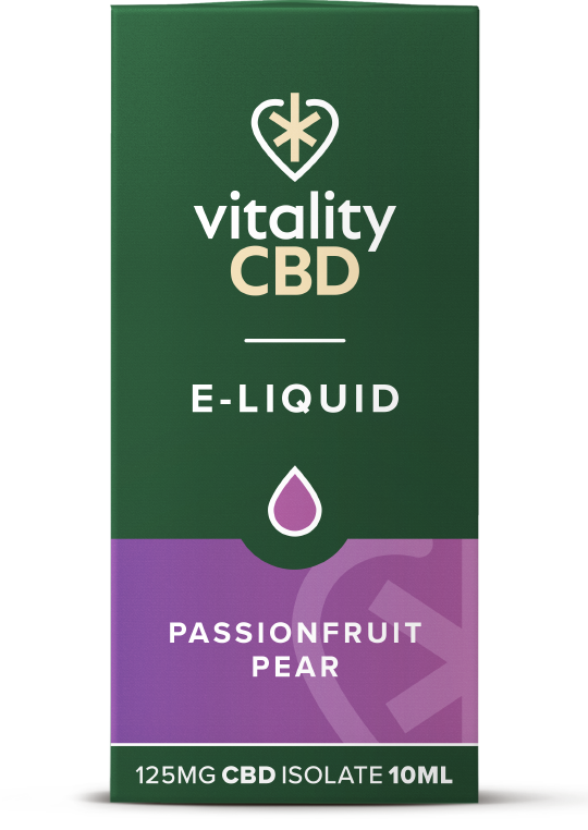 Vitality CBD e-liquid Passionfruit Pear 125mg