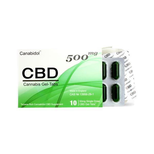 Canabidol CBD Capsules 500mg 10 pk