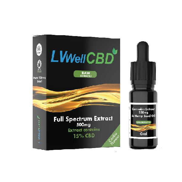 LVWellCBD 500mg 10ml Raw Cannabis Oil