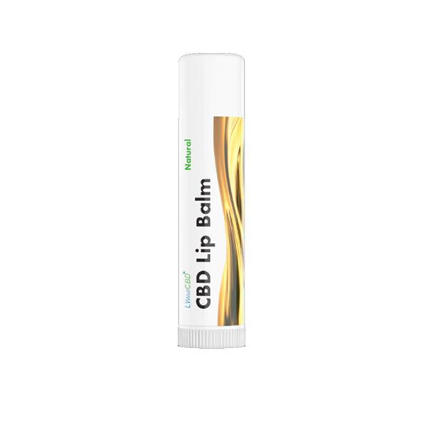 LVWell CBD 50mg CBD Lip Balm Natural