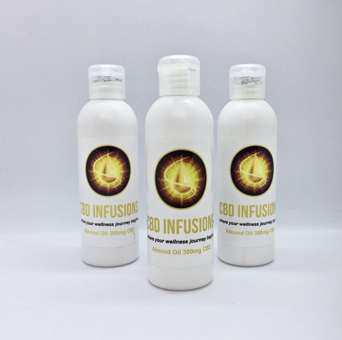 CBD Infusions CBD Almond Massage Oil 300mg