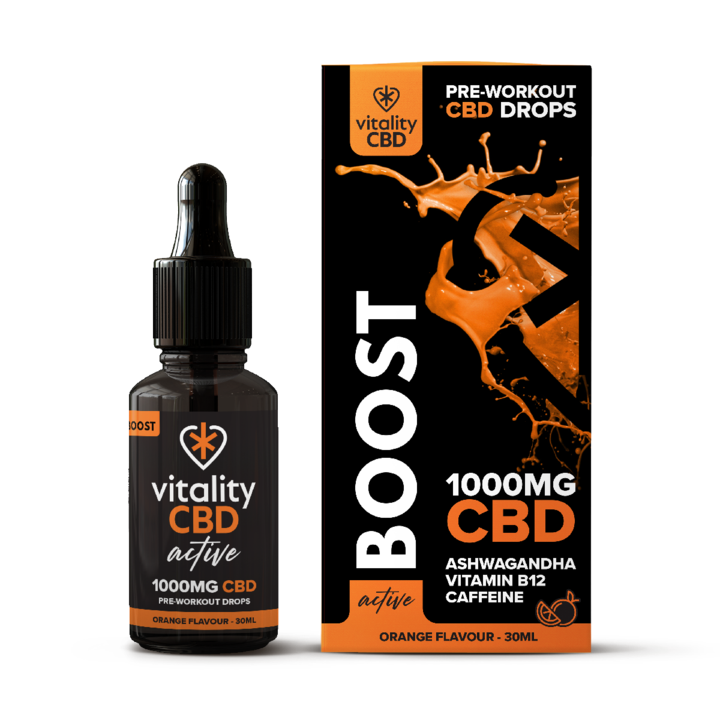 Vitality CBD Active Drops Boost 1000mg