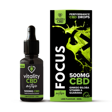 Vitality CBD Active Drops Focus 500mg