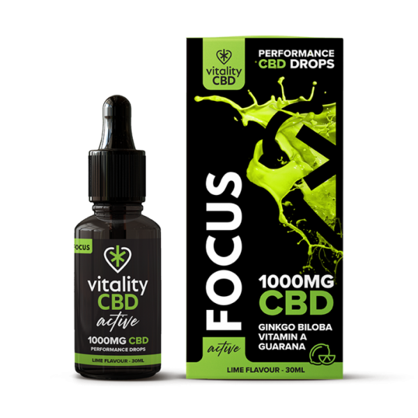 Vitality CBD Active Drops Focus 1000mg