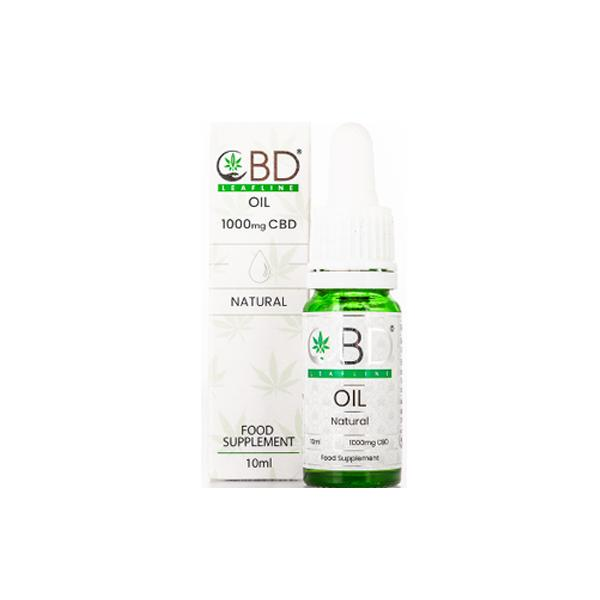 CBD Leafline 1000mg CBD Food Supplement Oil 10ml natural