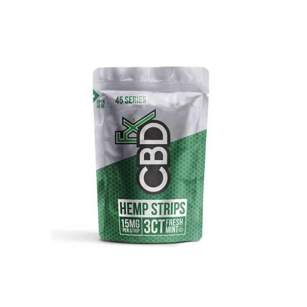 CBDFX 45mg CBD Sublingual Strips - Fresh Mint