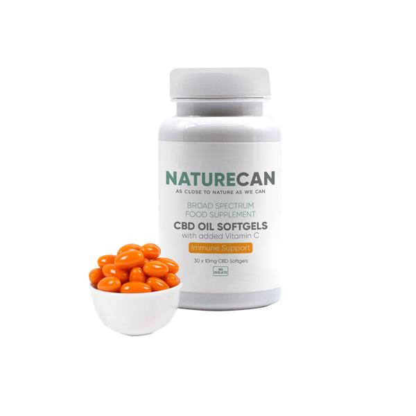 Naturecan 10mg CBD Oil Softgels with Vitamin C - 30 Capsules