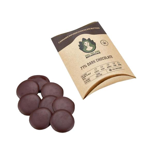 25mg CBD Cannabis Chocolate Buttons